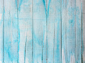 istock Distressed, worn, weathered, old, blue and white wooden panel abstract background. 1175686487