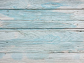 istock Distressed, worn, weathered, old, blue and white wooden teak panel abstract background. 1176716447