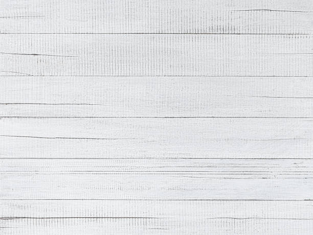 Distressed, worn, weathered, old, white-painted wooden panel abstract background. stock photo