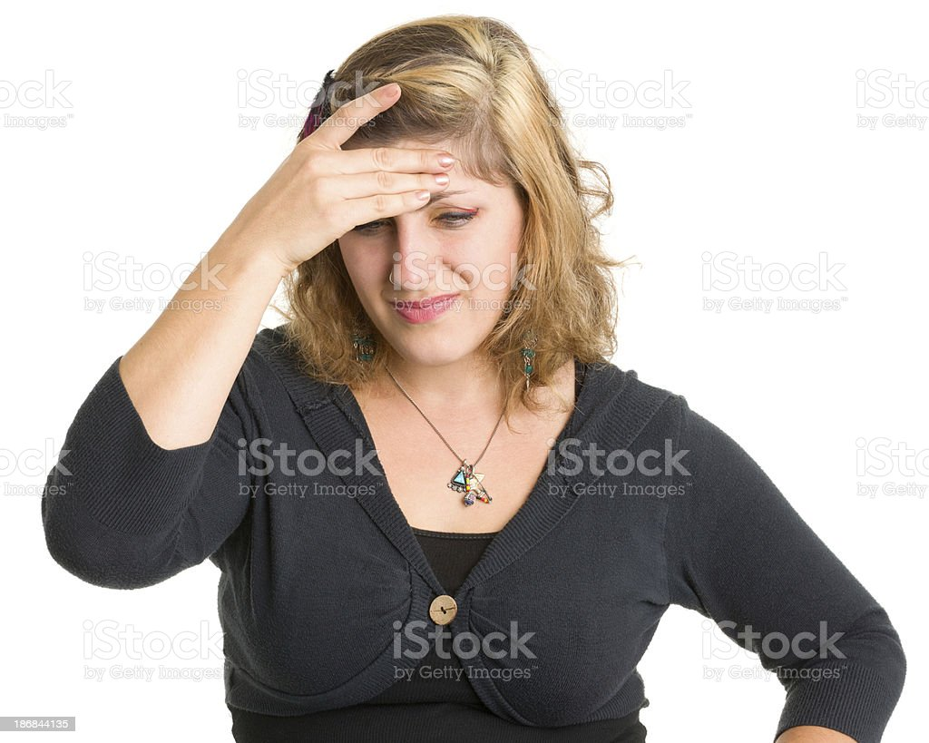 Distressed Young Woman royalty-free stock photo