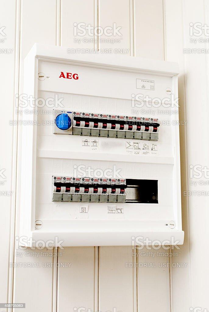 AEG Distribution Box royalty-free stock photo