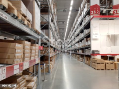 544976664 istock photo Distribution Center and Warehouse. Blur 990455146