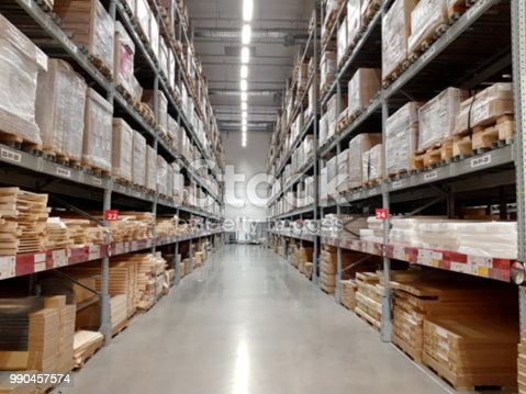 544976664 istock photo Distribution Center and Warehouse. Blur 990457574