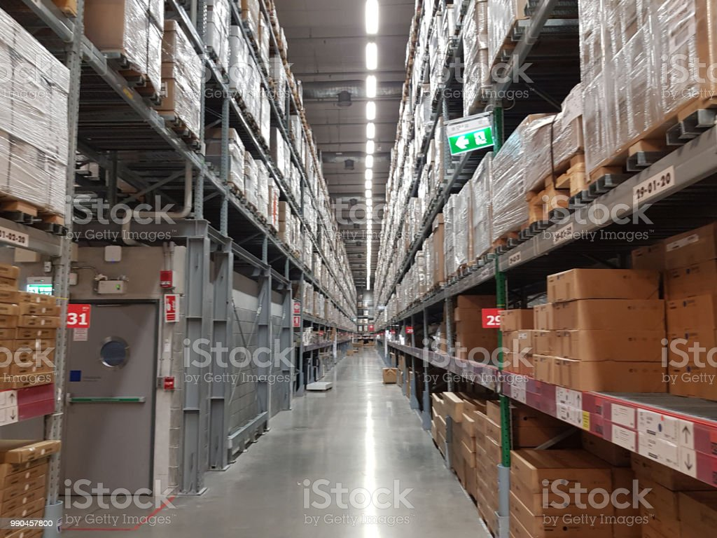 Distribution Center And Warehouse Stock Photo - Download Image Now