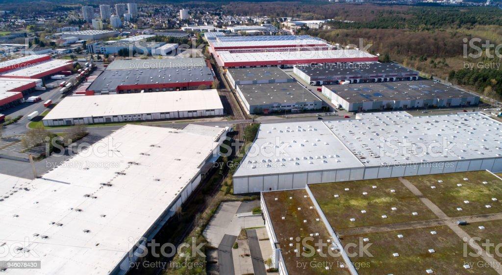 Vertrieb Logistik Gebäude und Industriegebiet - Luftbild – Foto