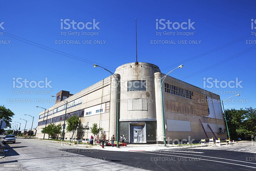 Distribution warehouse in Crawford Industrial Park, Chicago royalty-free stock photo