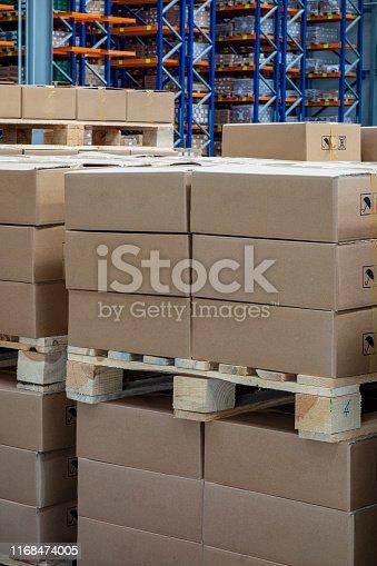 istock Distribution warehouse 1168474005