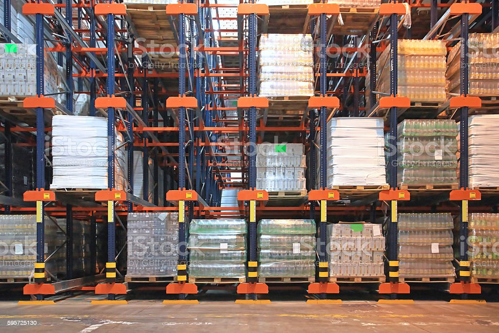 Distribution warehouse stock photo