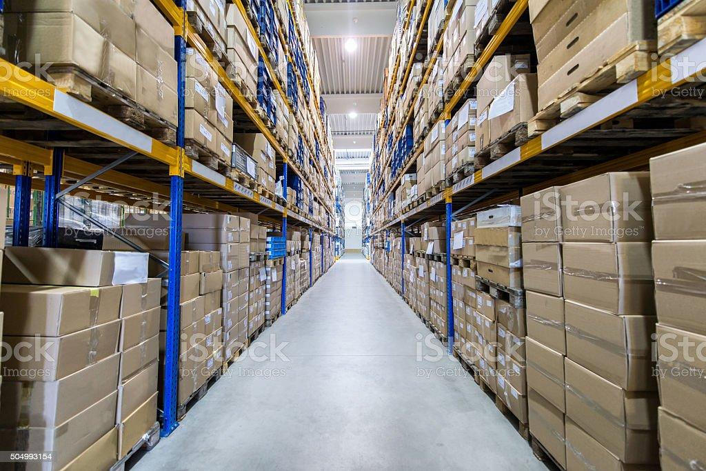 Almacén de distribución/centro - foto de stock