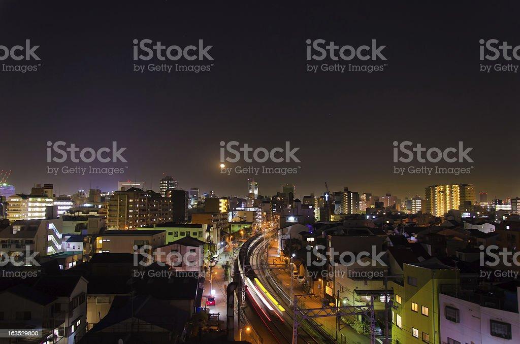 District by night,Osaka, Japan. royalty-free stock photo