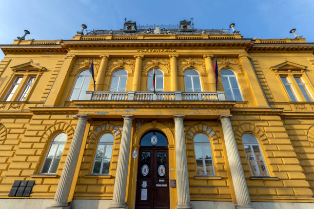 District court in Szekesfehervar, Hungary stock photo