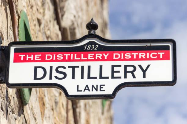 district distilleerderij in toronto (canada) - stadsdeel stockfoto's en -beelden