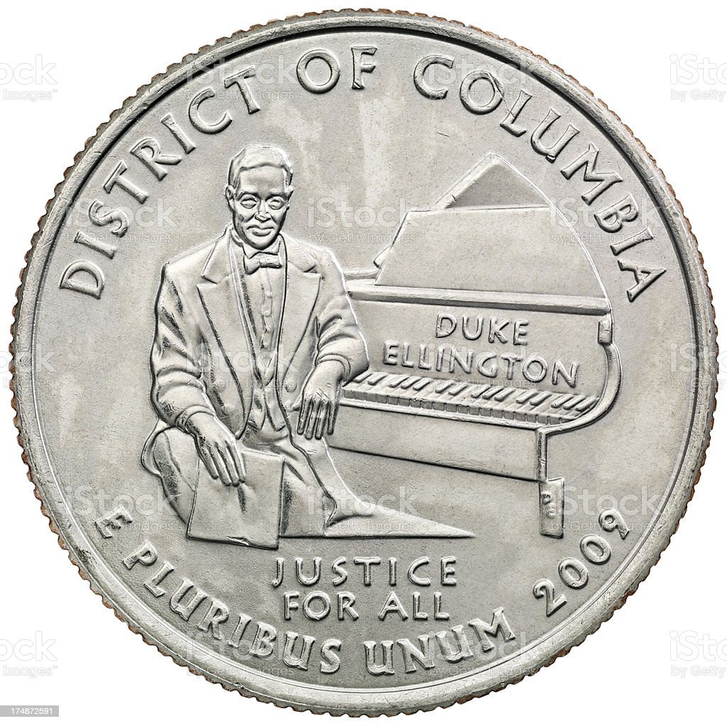 District of Columbia Quarter Coin royalty-free stock photo