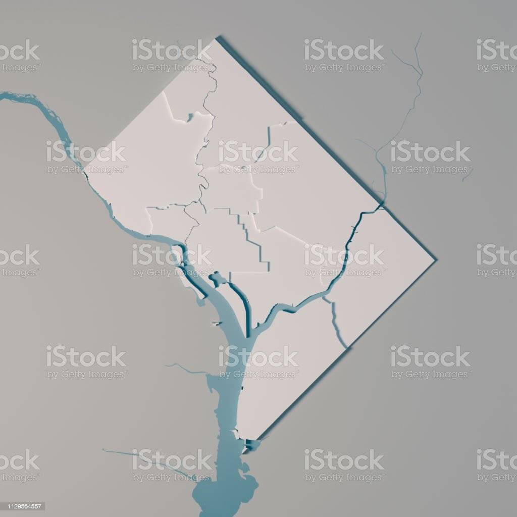 District Of Columbia Us State Map Administrative Divisions Counties ...