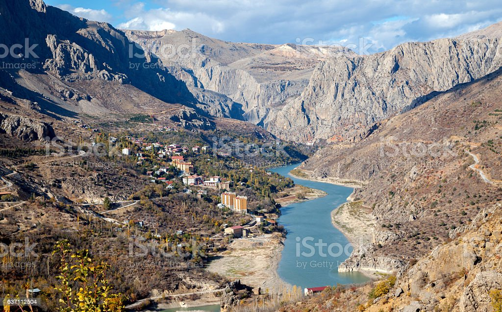 District of Kemaliye (Egin) in Erzincan stock photo