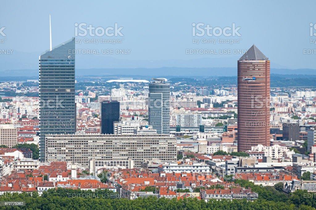 District of La Part-Dieu in Lyon stock photo
