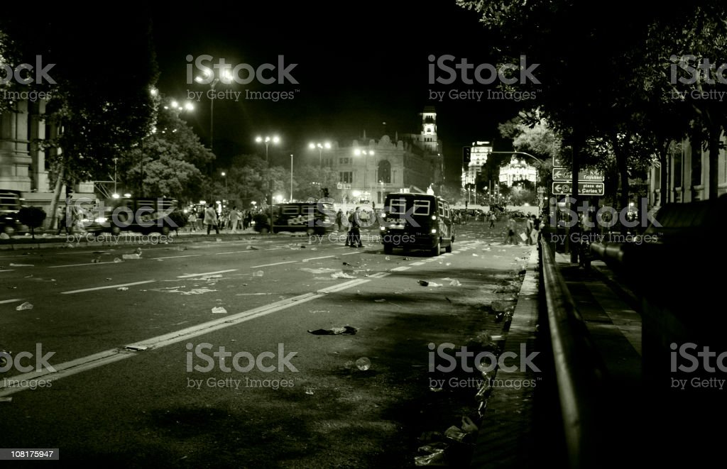 disturbance at night stock photo