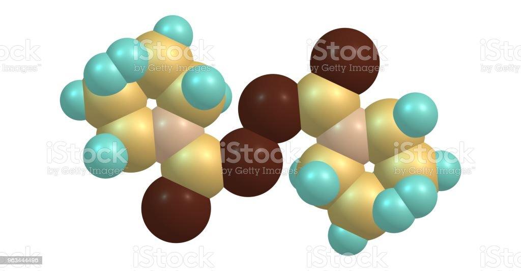Disulfiram molecular structure isolated on white - Zbiór zdjęć royalty-free (Alkohol - napój)