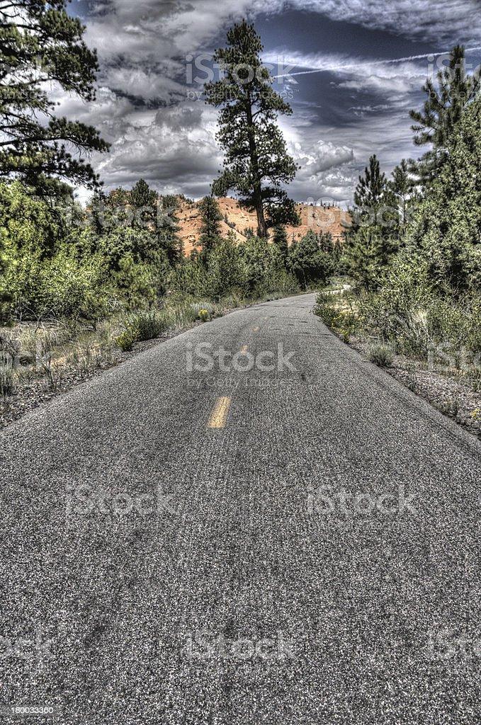 Disused road, Utah royalty-free stock photo