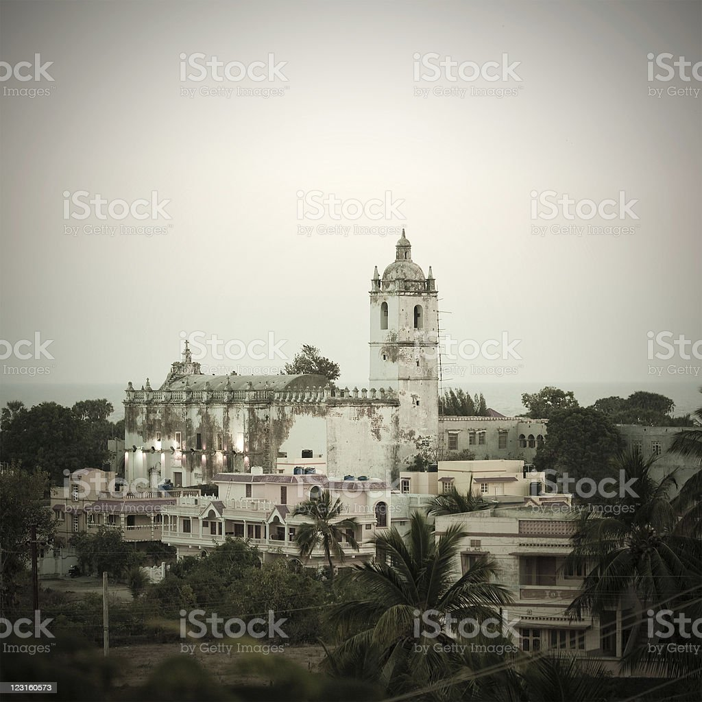 Diu Church In India stock photo