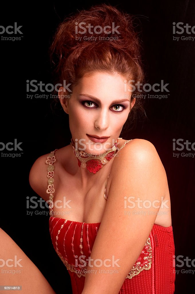 Diva In Red royalty-free stock photo