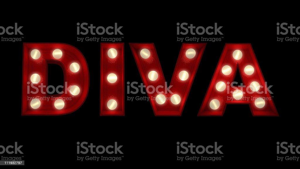 Diva royalty-free stock photo