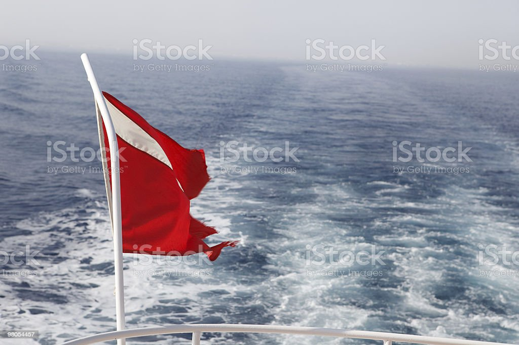 Dive boat flag royalty-free stock photo