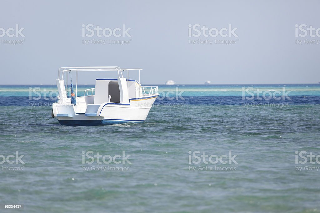 Dive boat in the sea royalty-free stock photo