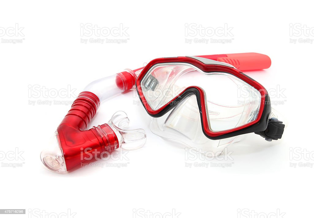 Dive mask and snorkel stock photo