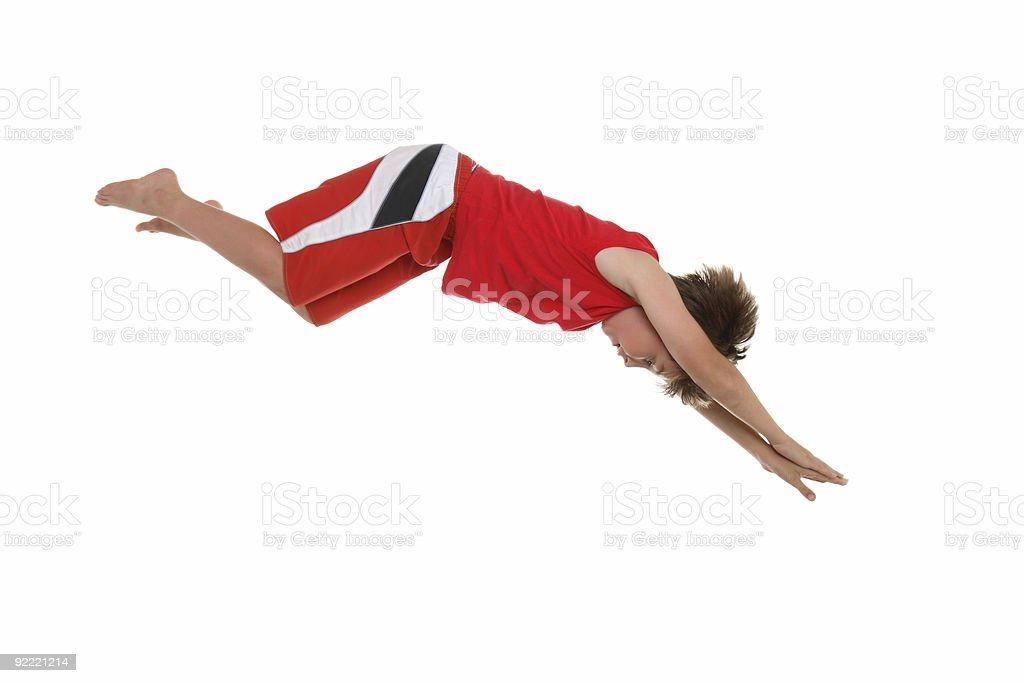 Dive right in stock photo