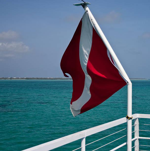 Diver Down Flag stock photo