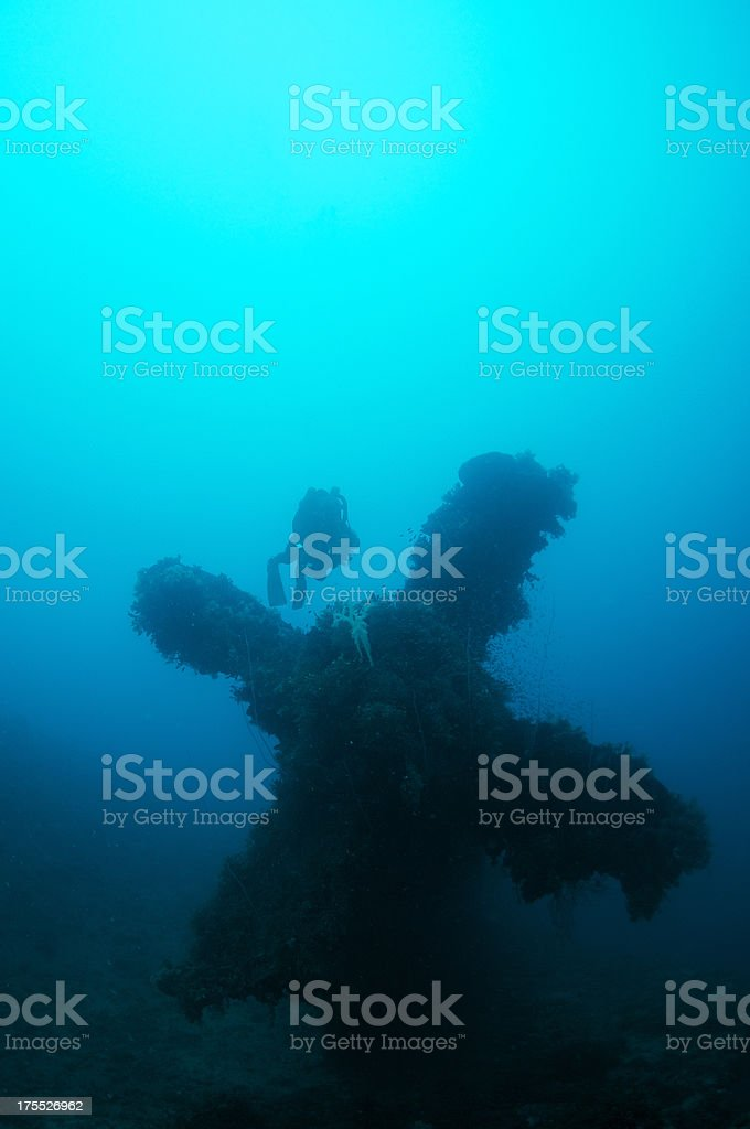 Diver with Propellor stock photo
