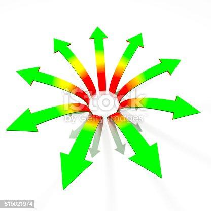 istock Divergent arrows concept 815021974