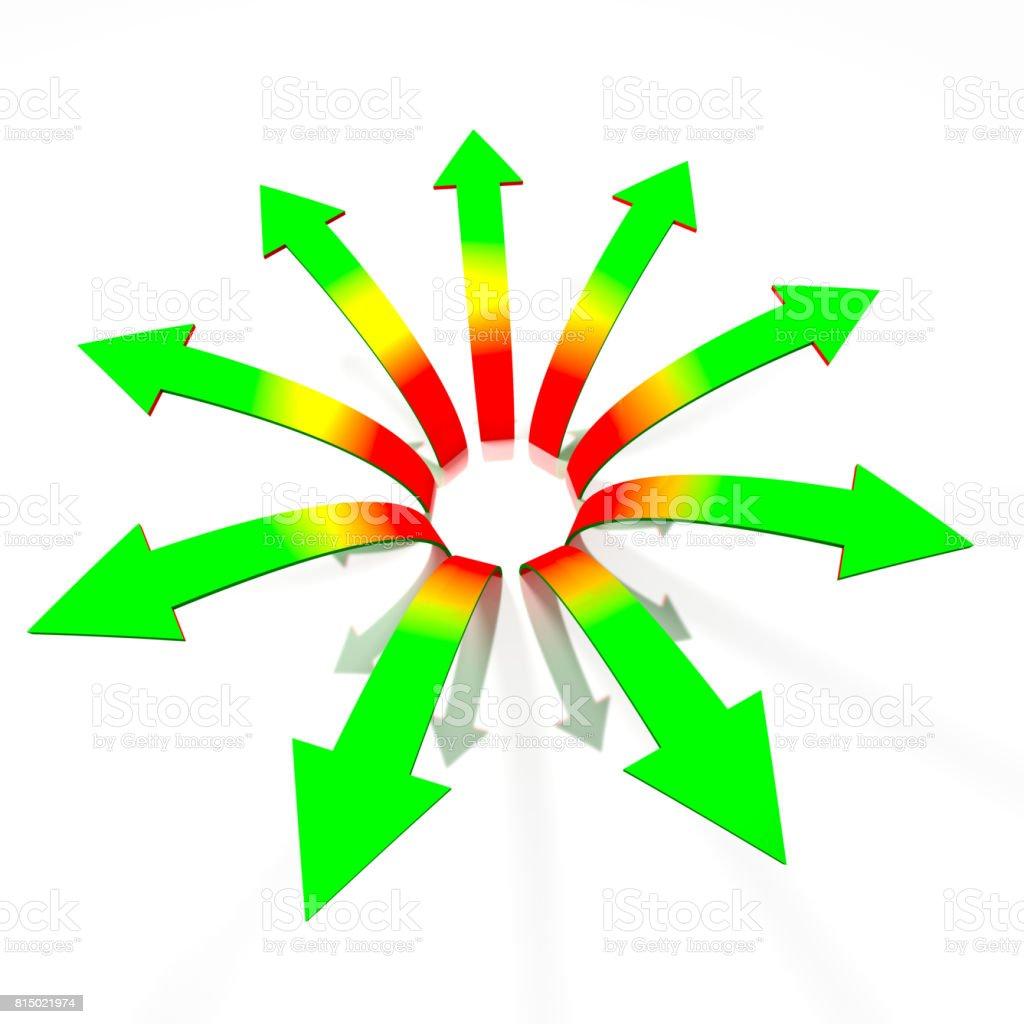 Concept de flèches divergentes - Photo