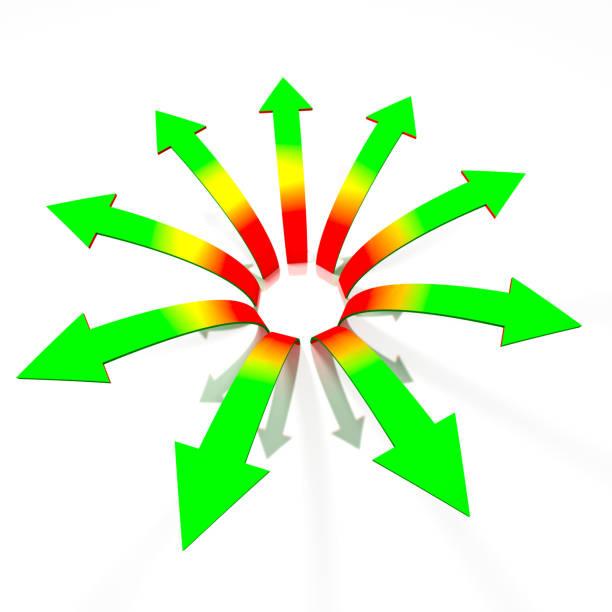 Divergent arrows concept stock photo