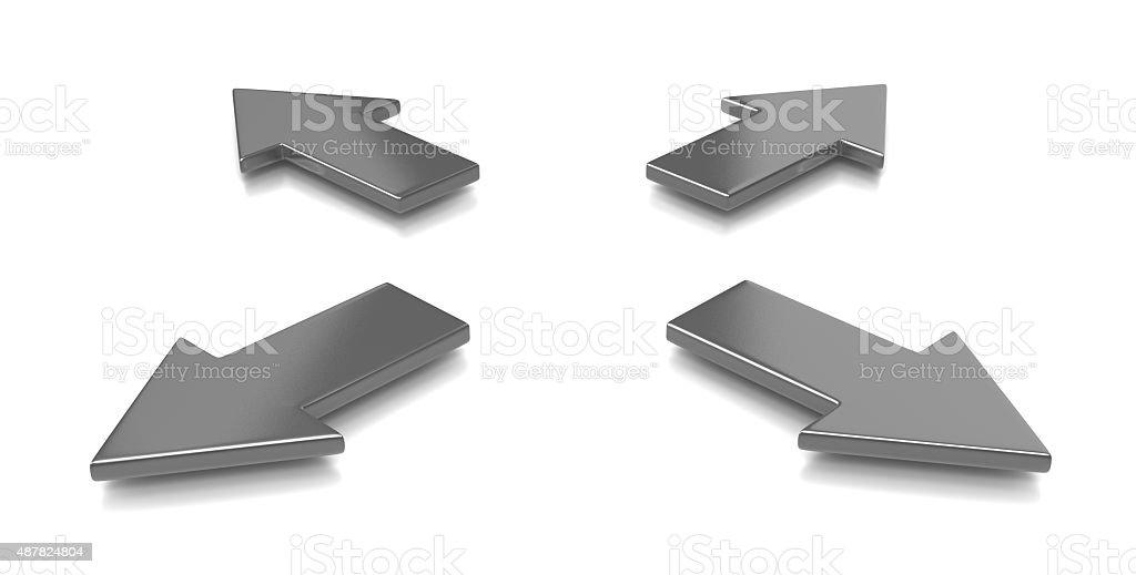 Divergent Arrows stock photo