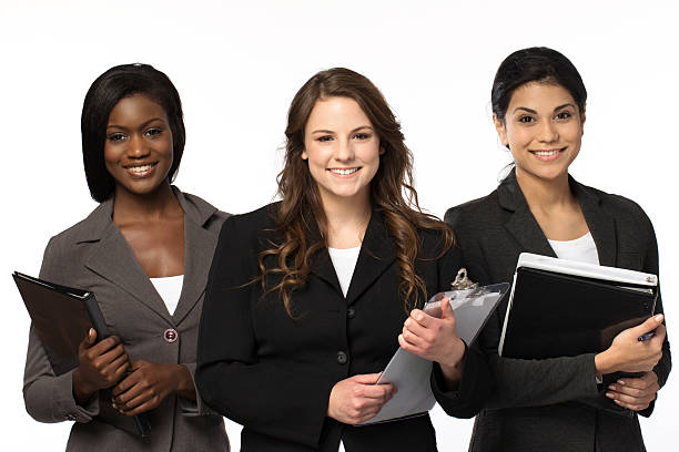 Diverse and empowered women ready for business stock photo