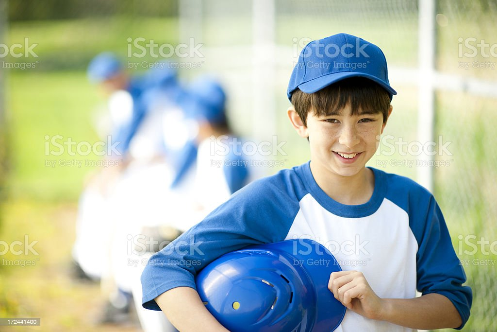 Diverse Boys Baseball Team stock photo