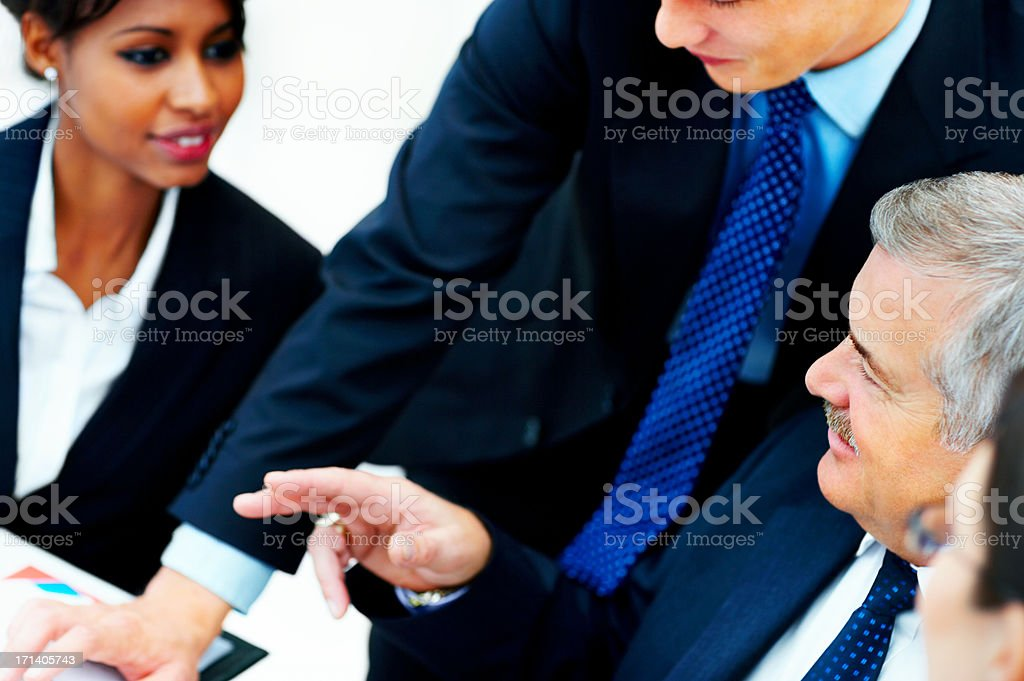 Diverse business group meeting royalty-free stock photo