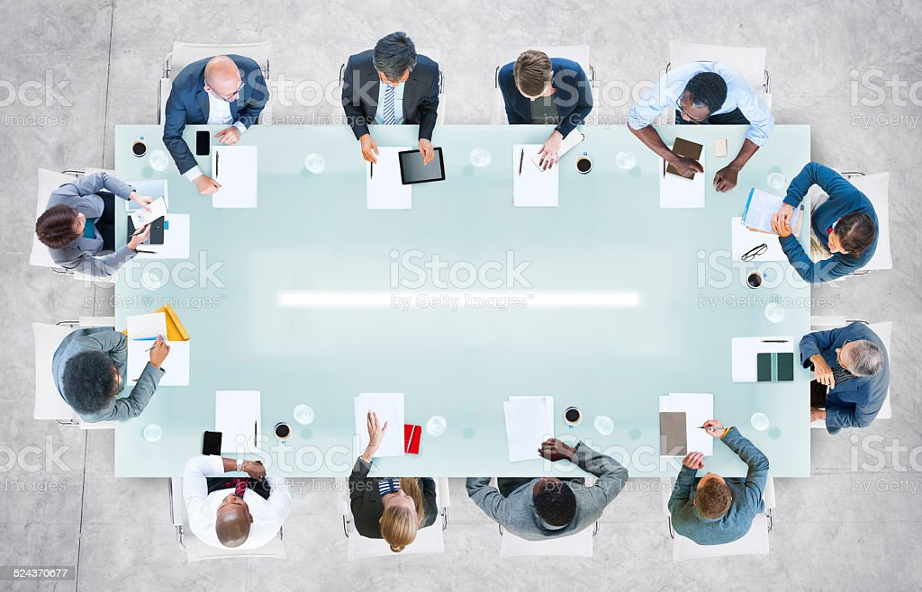 Diverse Business People Having a Meeting in the Office stock photo
