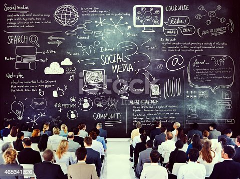 istock Diverse Business People Learning About Social Media 465341826