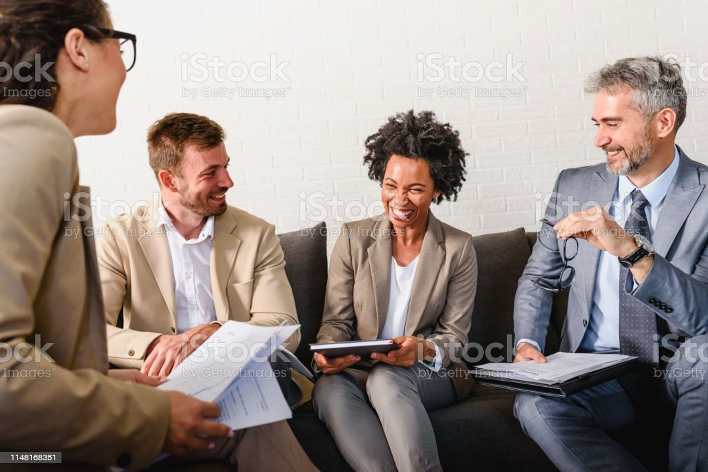 Diverse business people on a informal business meeting