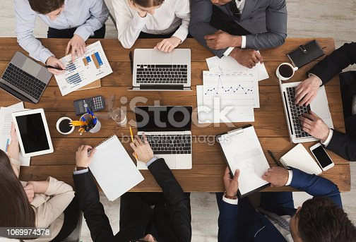 istock Diverse business team at meeting 1069974378