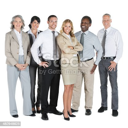 istock Diverse business team; full length isolated on white background 482948625