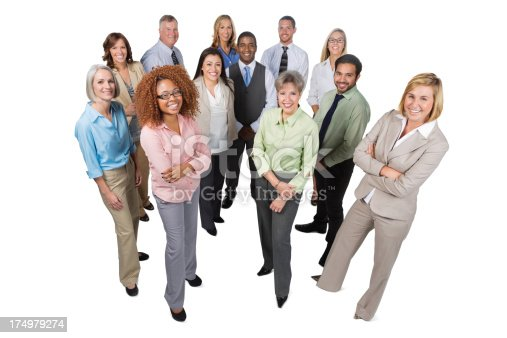istock Diverse business team; full length; isolated on white 174979274