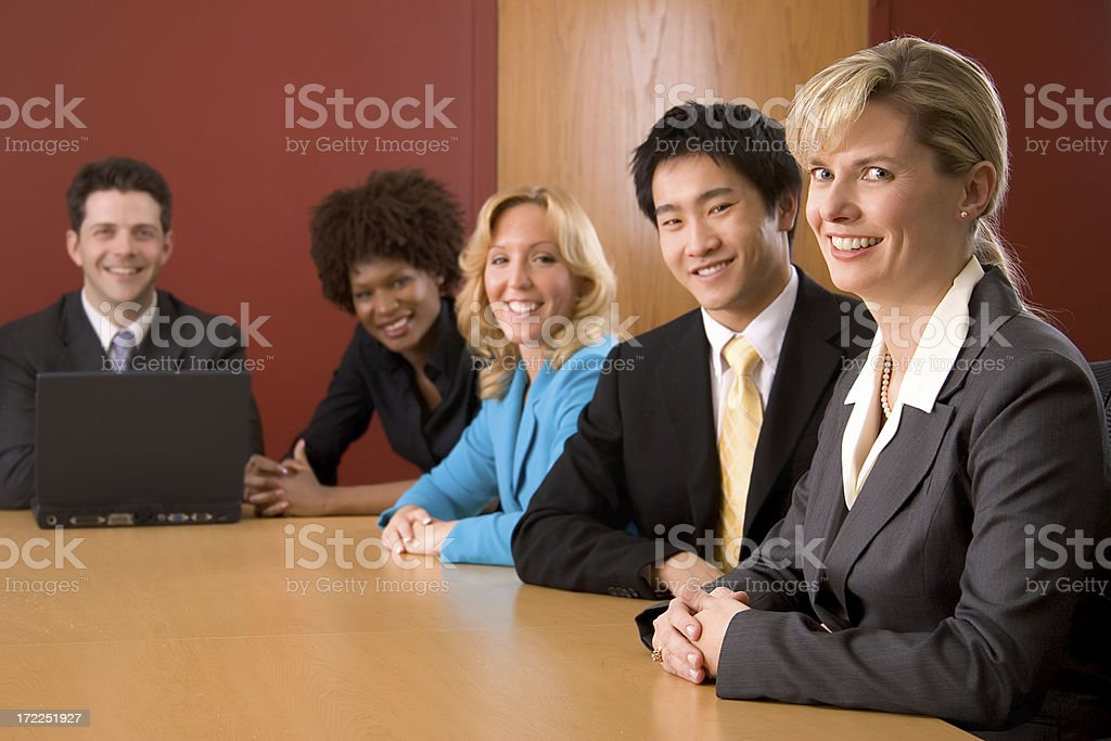 Diverse Business Team Meeting royalty-free stock photo