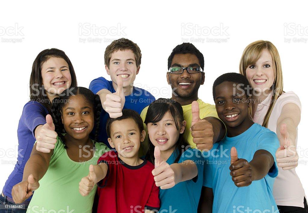 Diverse children stock photo