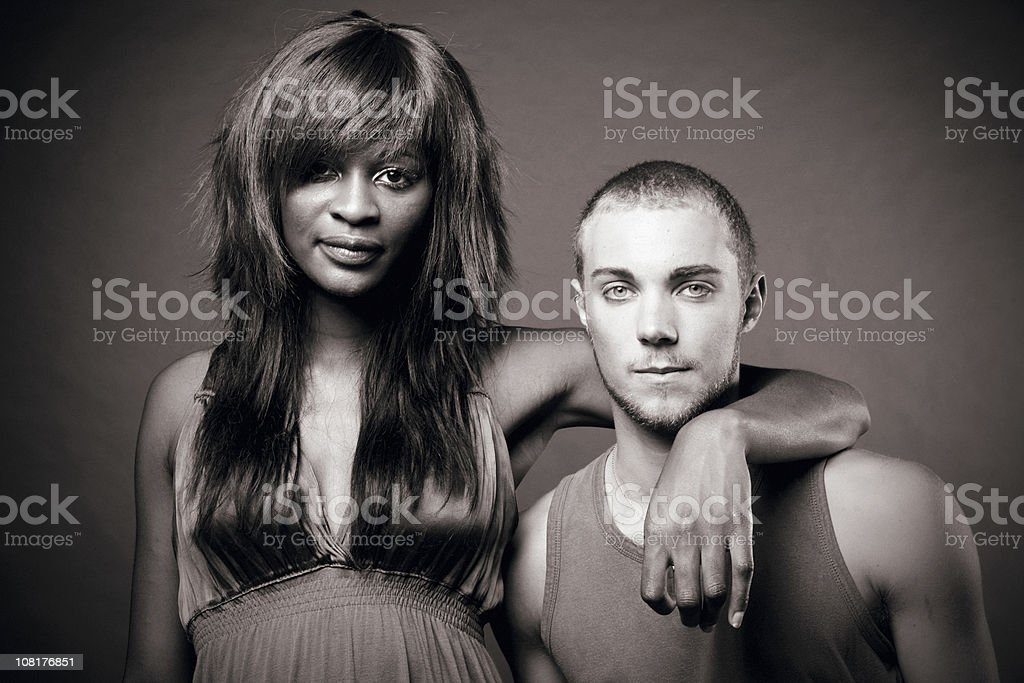 diverse couple stock photo
