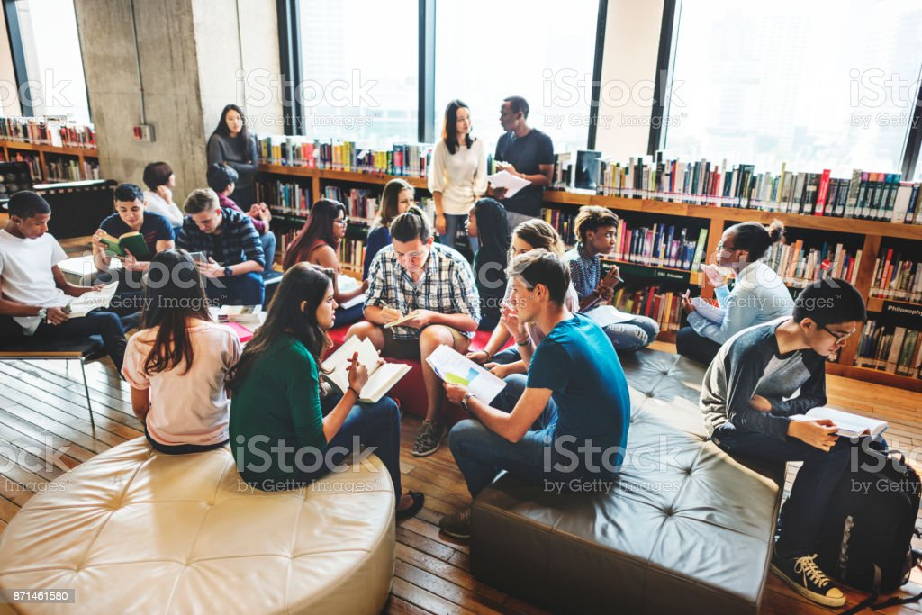 Diverse education shoot royalty-free stock photo