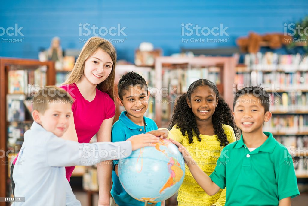 Diverse Elementary Class royalty-free stock photo